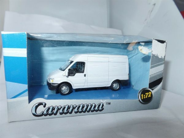 Cararama 1/72 Scale Ford Transit Van Dealer White